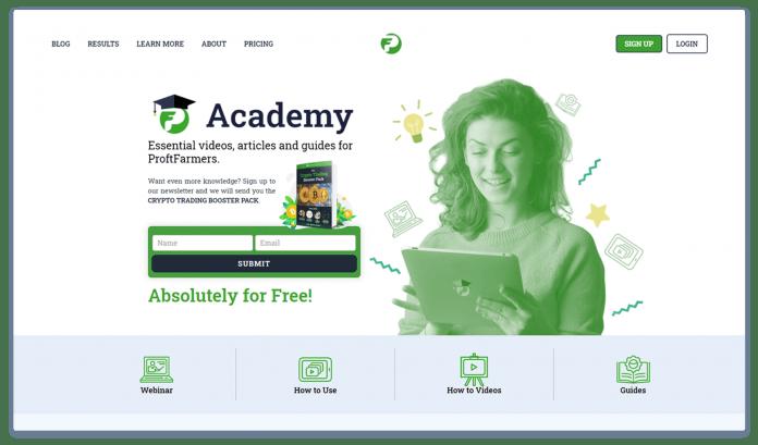 PF Academy page