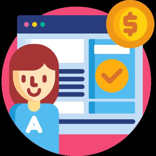 Sponsorer og affiliate ikon