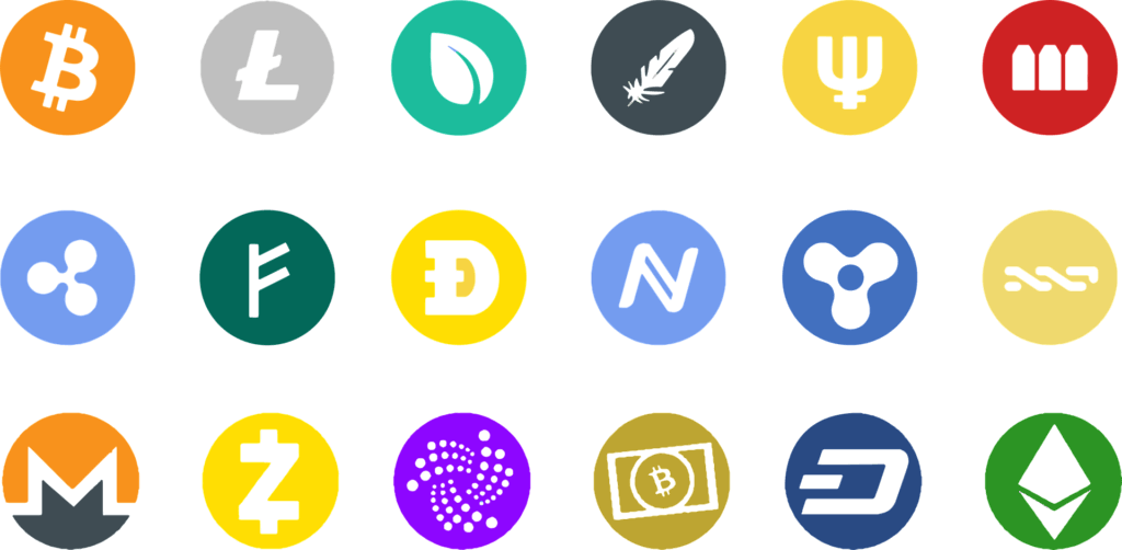 cryptocurrencies ikoner