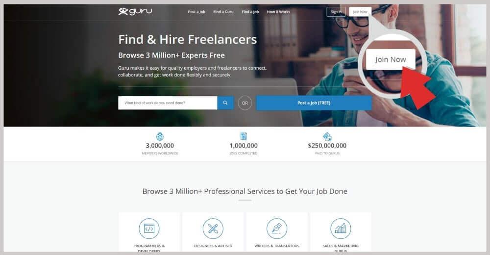 Guru freelance trin